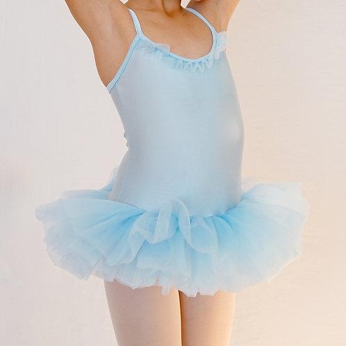 Vestido ballet con falda de capas