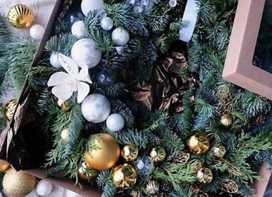 """Рождественский венок """"БЕЛОЕ ЗОЛОТО"""""""