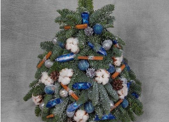 Декоративная елочка с конфетами (цвет на выбор)