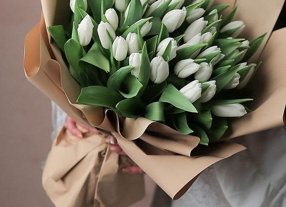 Букет тюльпанов от 25 шт (цвет на выбор)