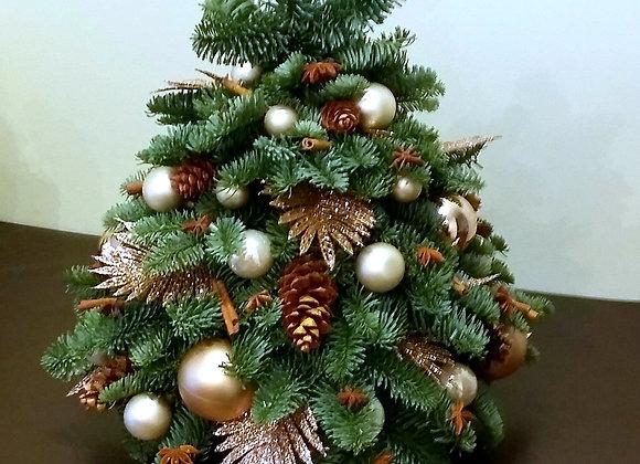 Декоративная елочка с перьями (цвет на выбор)