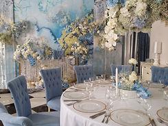 Оформление свадьбы в голубой гамме