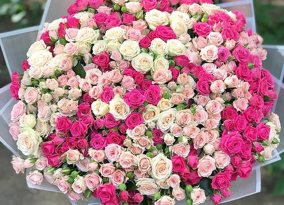Кустовые розы в ассортименте