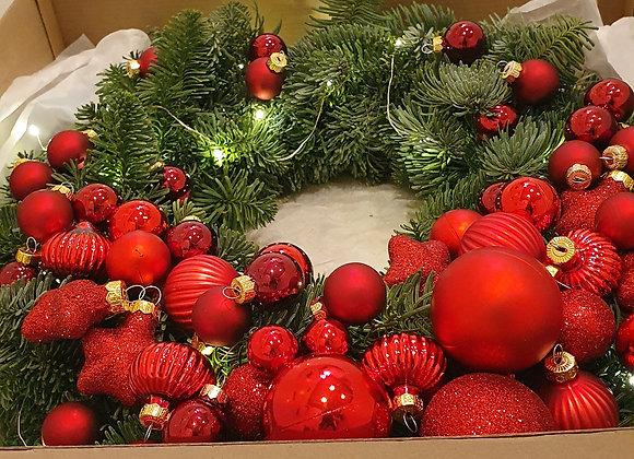 """Рождественский венок """"Рубин"""""""