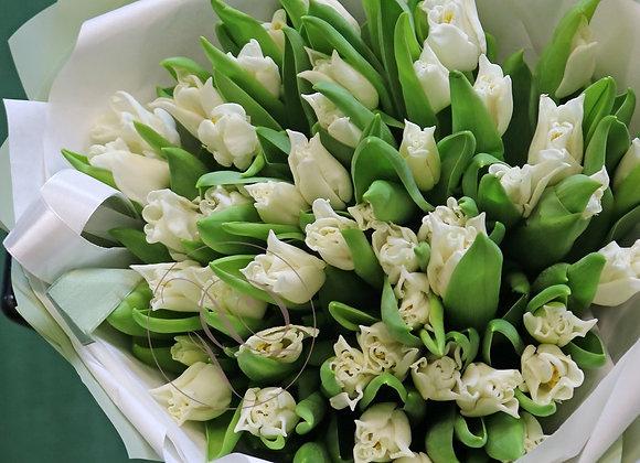 Букет тюльпанов Либерстар от 25 шт (цвет на выбор)
