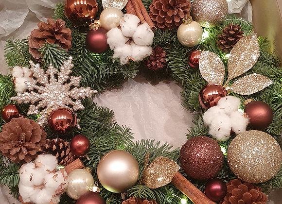"""Рождественский венок """"Шоколад"""""""