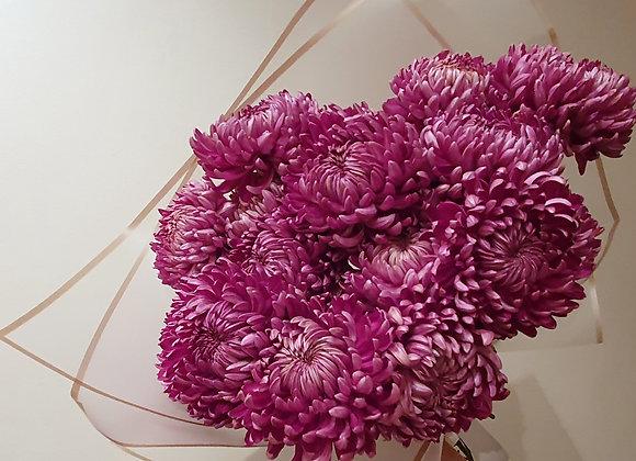 Букет из хризантем (сорт Бигуди)