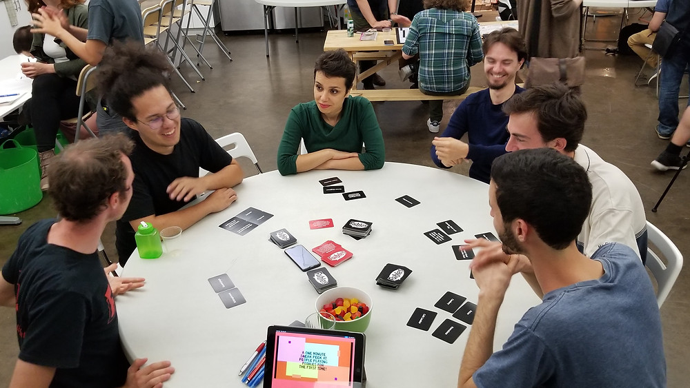 Foibles game testing at Gameplay space Montreal
