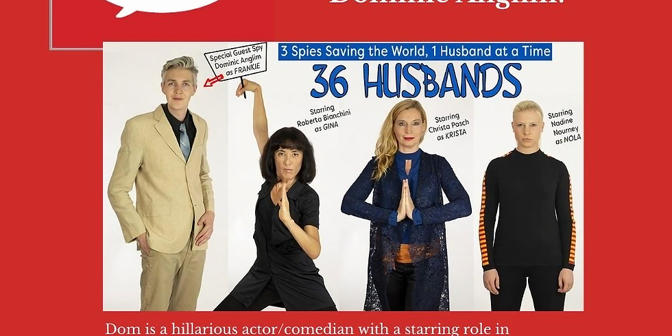 36 Husbands star Dominic Anglim plays Foibles Live!