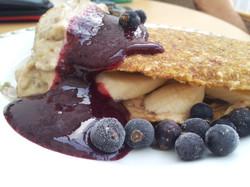 toffee berry pancake