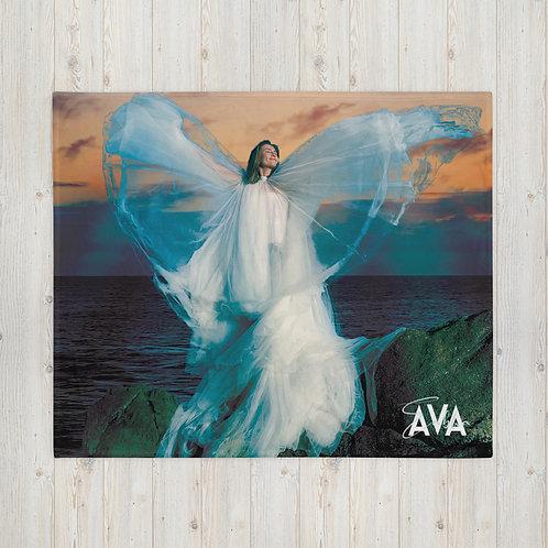 Angel Sunset Throw Blanket