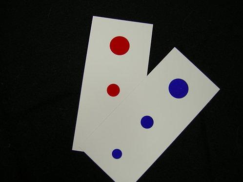 Three dot card per dozen