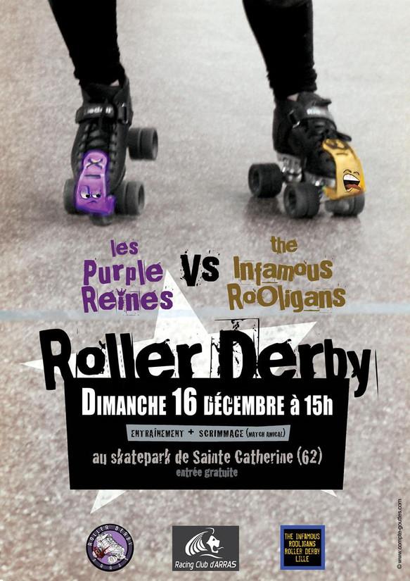 Purple Reines - Club Roller Derby Arras