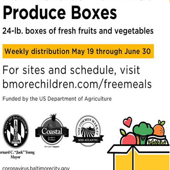 Farmers to Families will be distributing 20+ lbs of fresh produce. Click flyer for the link.