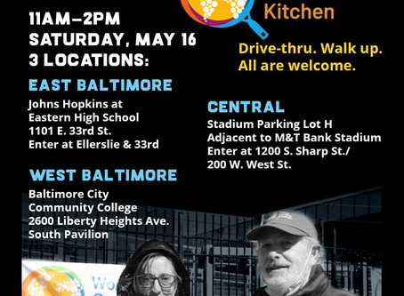 World Central Kitchen will be distributing meals tomorrow from 11a-2p at the locations below.
