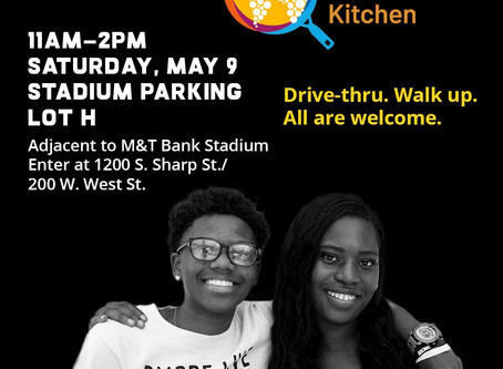 World Central Kitchen will be distributing meals tomorrow, 5/9/20 from 11am-2pm at M&T Bank Stadium