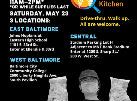 World Central Kitchen is distributing meals tomorrow from 11am-2pm, see flyer for locations.