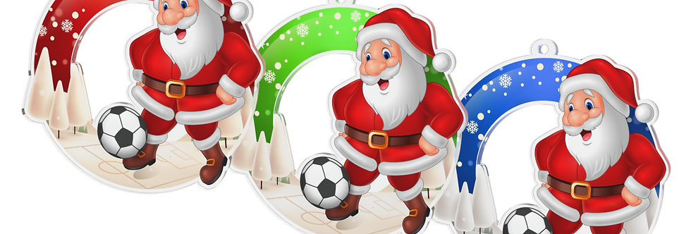 Santa Claus - kulatý -FOOTBALL