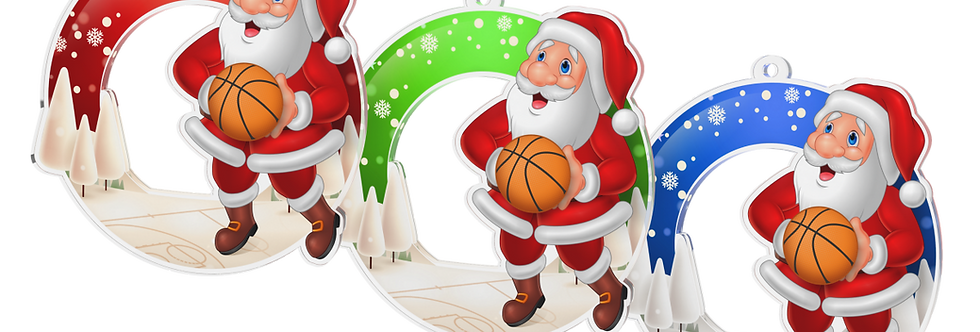 Santa Claus - kulatý - BASKETBALL