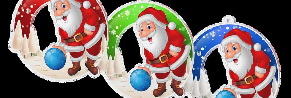 Santa Claus - kulatý - BOWLING