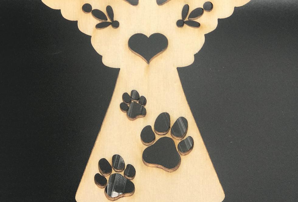 Andílek s pacičkami - dřevěný - bez textu