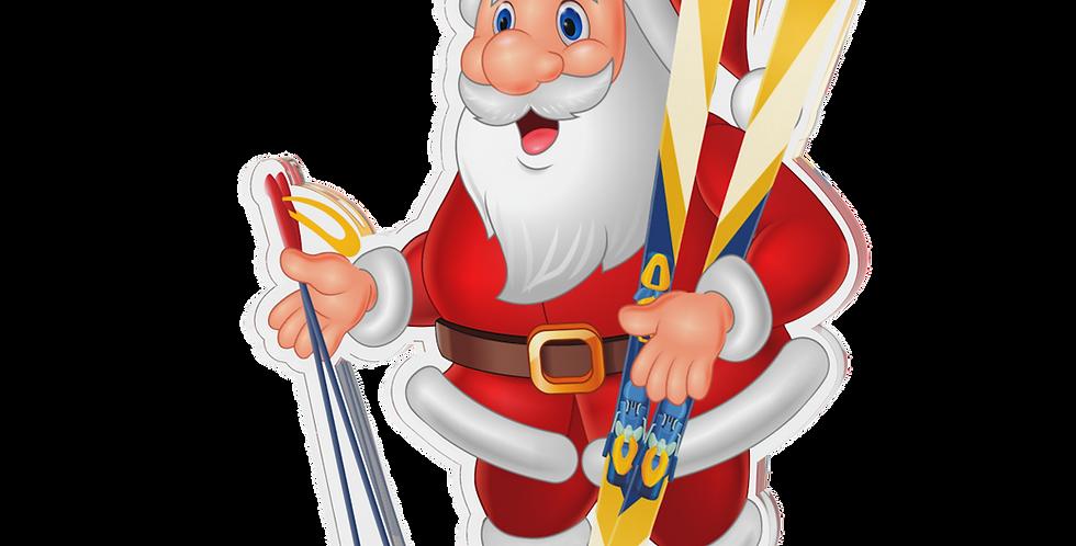 Santa Claus single - lyžař