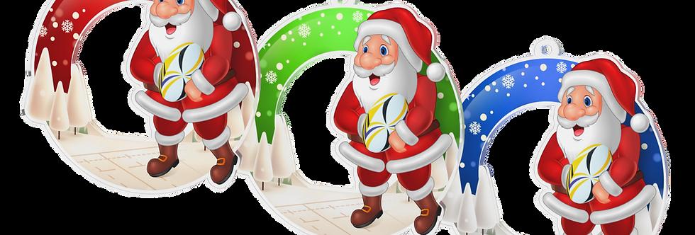 Santa Claus - kulatý -RUGBY