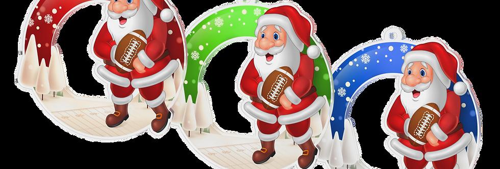 Santa Claus - kulatý -AM.FOOTBALL