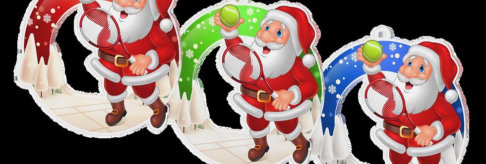 Santa Claus - kulatý -TENNIS
