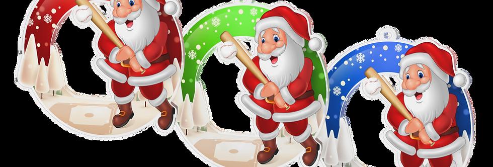 Santa Claus - kulatý - BASEBALL