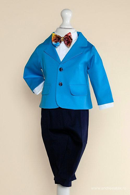 Costum băieți -albastru strumf (1-4 ani)