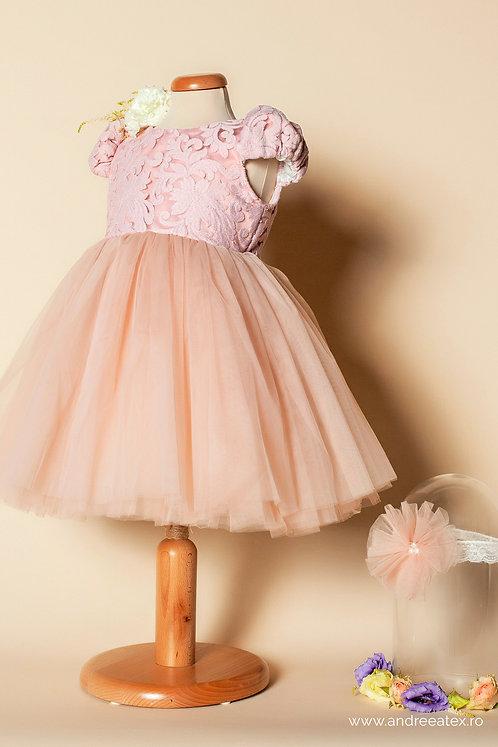 Rochiță fete- rose (1-2-3 ani)