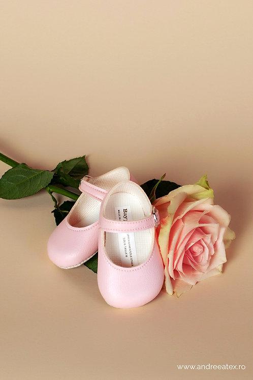 Pantofiori fetițe B021 /// roz-mat