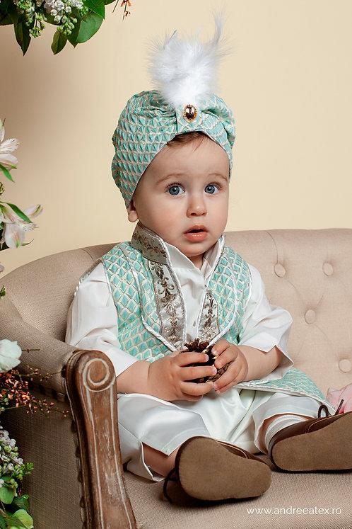 Costum Amir - turcoaz (3luni/6 luni/9-12 luni)