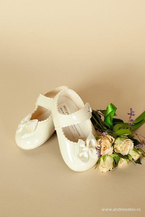 Pantofiori fetițe B604 /// ivoire