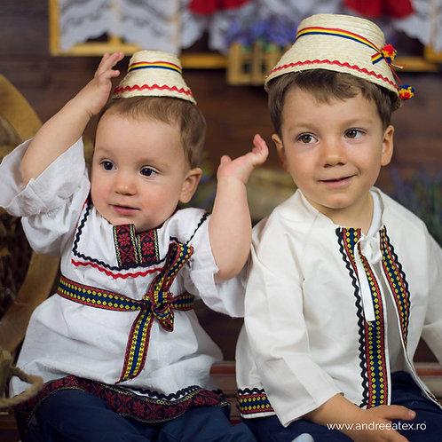 Costum național băieți cu jachetă (0-1an)