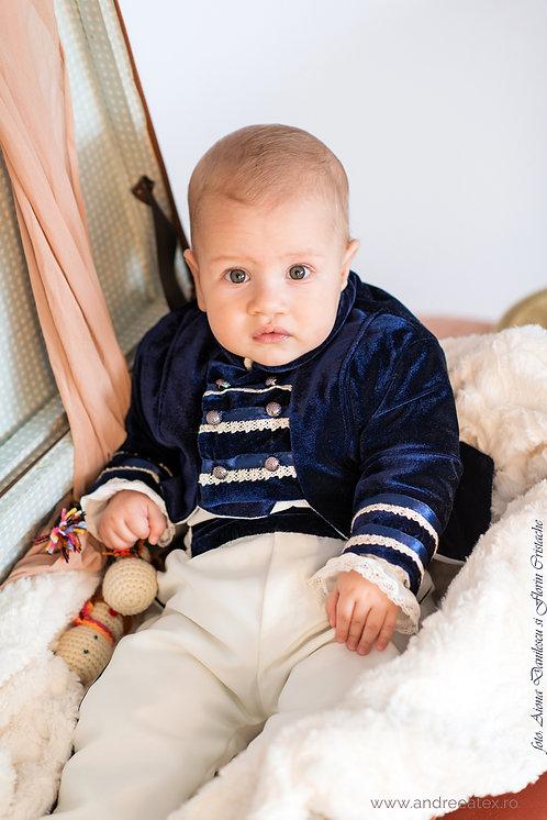 Redingotă - bleumarin(3luni/6 luni)