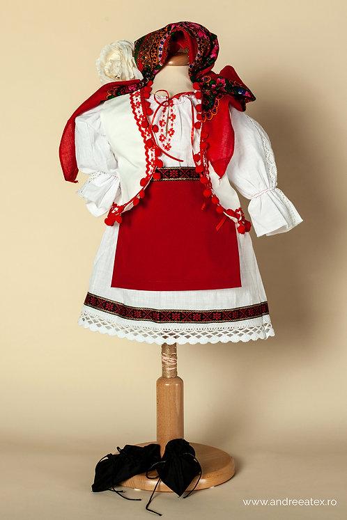 Costum național fete cu vestă (3-5 ani)
