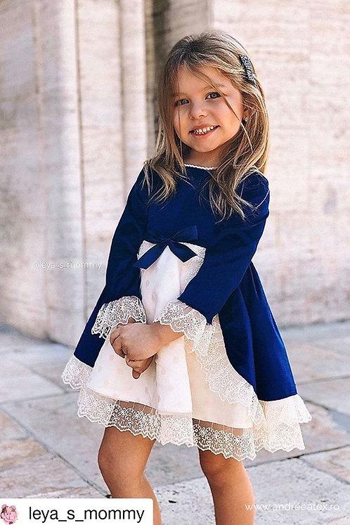 Set Yvette (3l-6l-9/12l) -albastru-royal