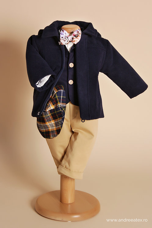 Jachetă Dominic - bleumarin (botez)