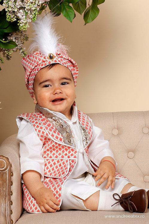Costum Amir - roșu (3luni/6 luni/9-12 luni)