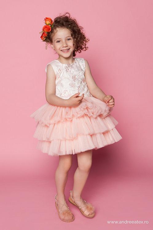 Rochiță Brigitte (3-4-5 ani) -roz