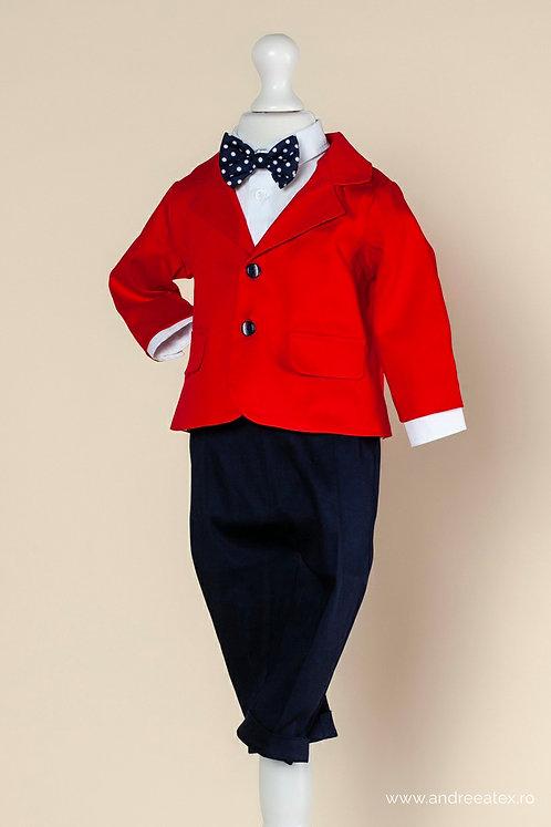 Costum băieți - roșu (1-4 ani)