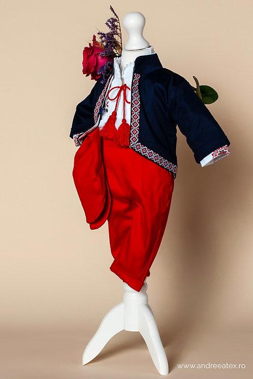 Costum băieți Cătălin- sacou bleumarin (3luni/6 luni)