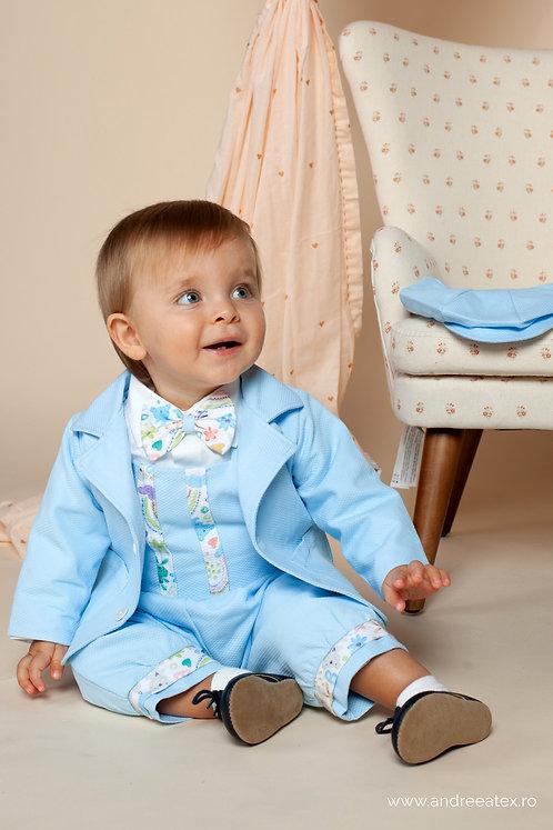 Costum Iancu - bleu (3 luni/6 luni/9 luni)
