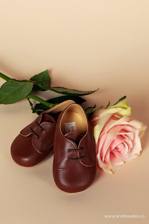 Pantofiori piele naturală Thomas /// maro
