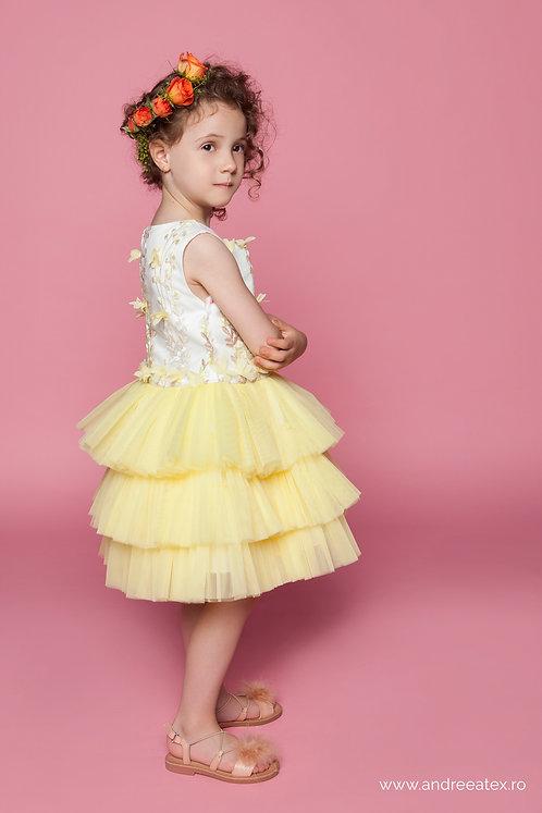 Rochiță Brigitte (3-4-5 ani) -galben