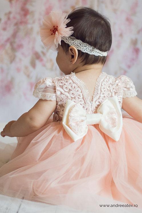 Alma - roz somon (set botez și turtă)