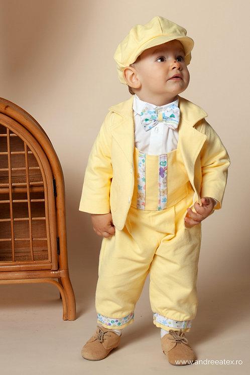 Costum Iancu - galben (3 luni/6 luni/9 luni)