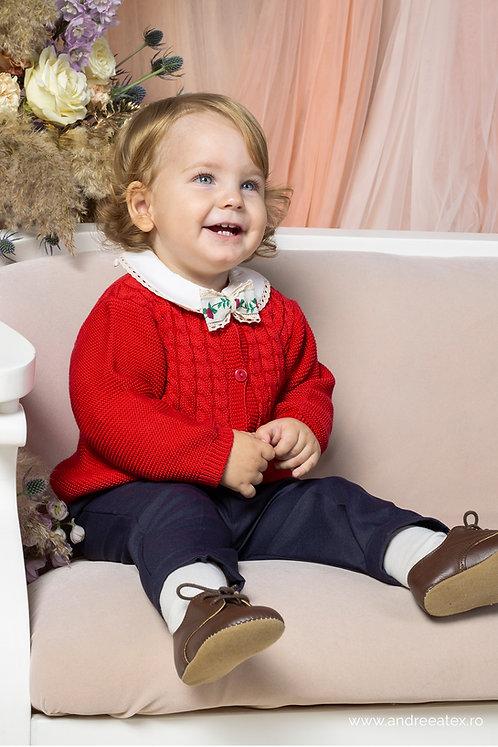 Prince George - set botez - roșu (3luni/6 luni/9 luni)